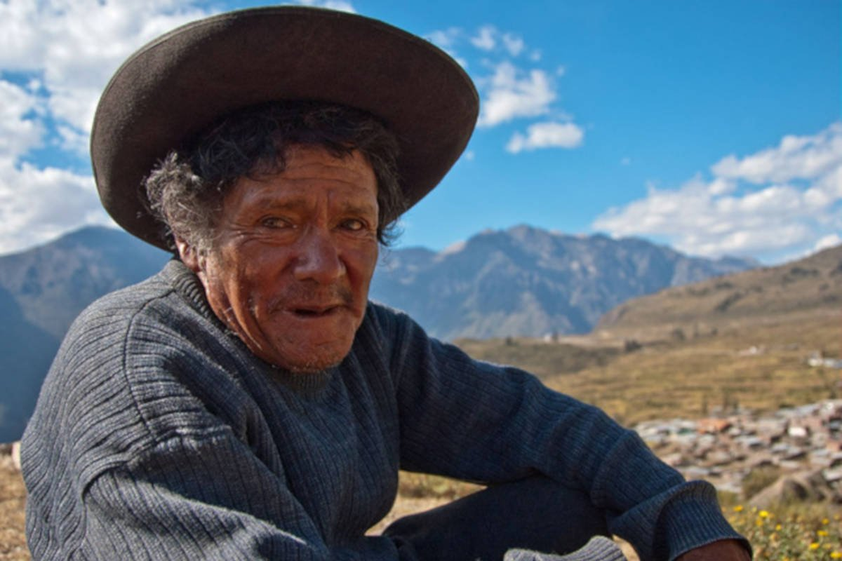 man in the mountains of Peru