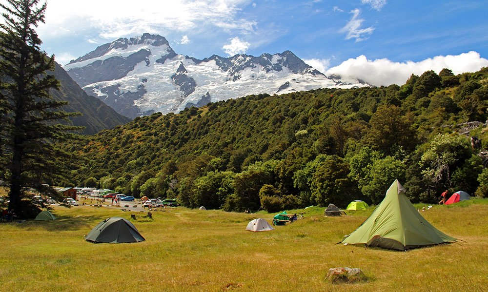 Camp site close to Mount Cook