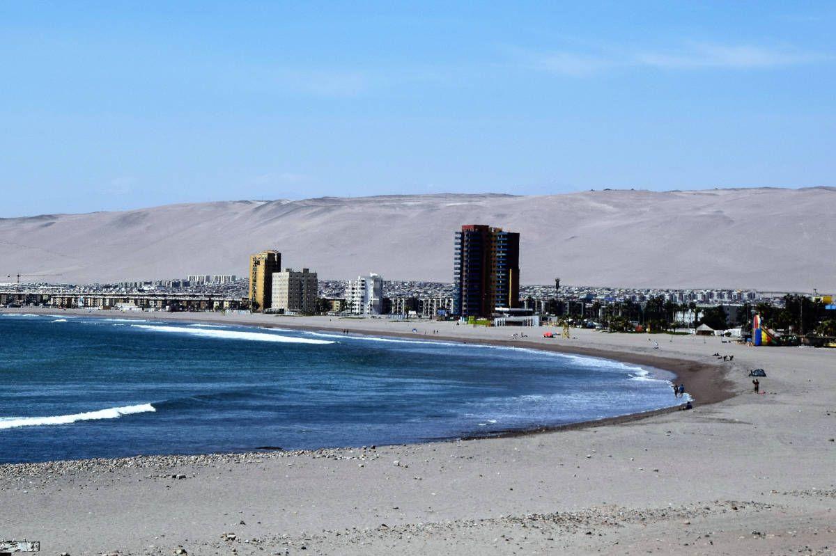 Arica's beaches in Chile are popular