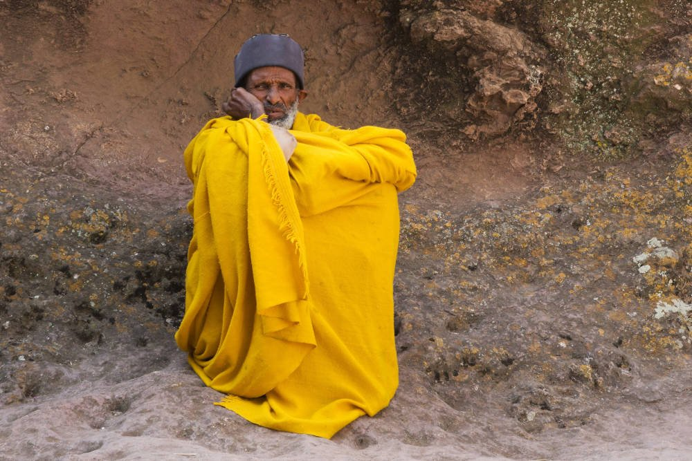 A worshipper in Ethiopia
