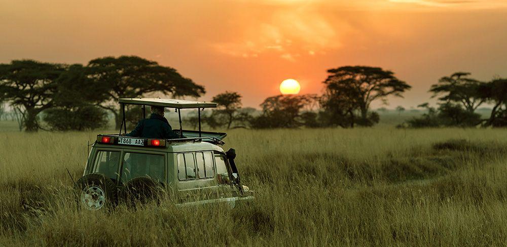 safari truck in Tanzania