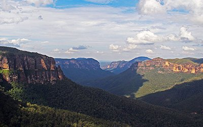 Enjoying nature in the Blue Mountains