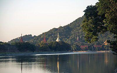 Biking through Buddhist Mandalay