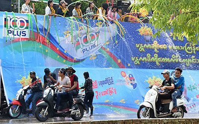 Cooling down during Thingyan, the Water Festival