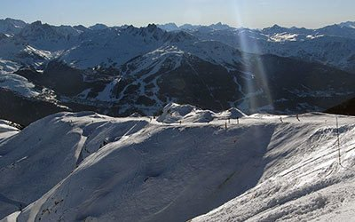 Skiing in La Plagne and Les Arcs