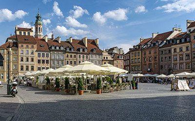 City trip to the Polish capital Warsaw