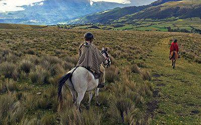 Cycling or walking at the Cotopaxi Volcano