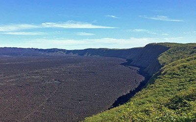 The Sierra Negra volcano on the Galapagos islands