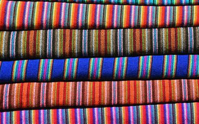 The weekly market in Otavalo