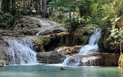 The waterfalls at Luang Prabang