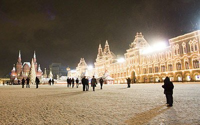 Moscow during the winter