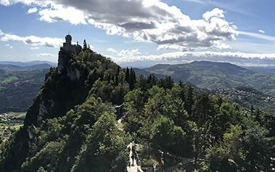 Visit to San Marino, the oldest republic in the world